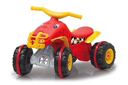 Jamara 460576 slippers Little Quad rood – gemaakt van robuust kunststof, trekhaak, ultra-grip rubberen ring op de wielen