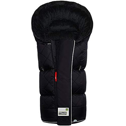 Odenwälder BabyNest Fußsack Keep Heat XL | 12462-190 | passend für alle Kinderwagen und Buggy | schwarz