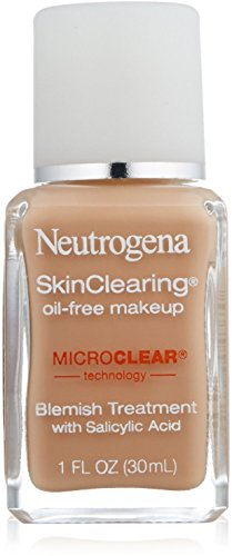Neutrogena SkinClearing Oil-Free Makeup, Medium Beige [80] 1 oz (Pack of 2)