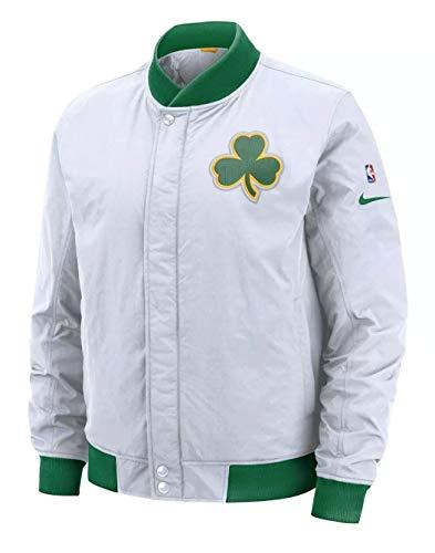 Boston Celtics Nike City Edition Courtside White Full-Zip Bomber Jacket - Men's Medium