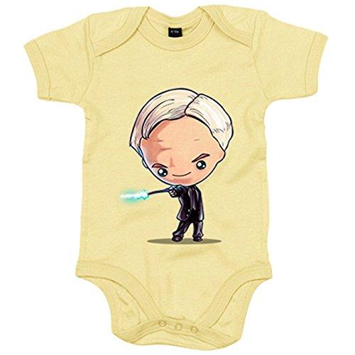 Body bebé Chibi Kawaii Harry Potter Draco Malfoy parodia - Verde, 12-18 meses