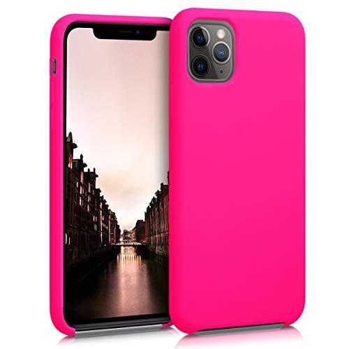 kwmobile Hülle kompatibel mit Apple iPhone 11 Pro Max - Handyhülle gummiert - Handy Case in Neon Pink