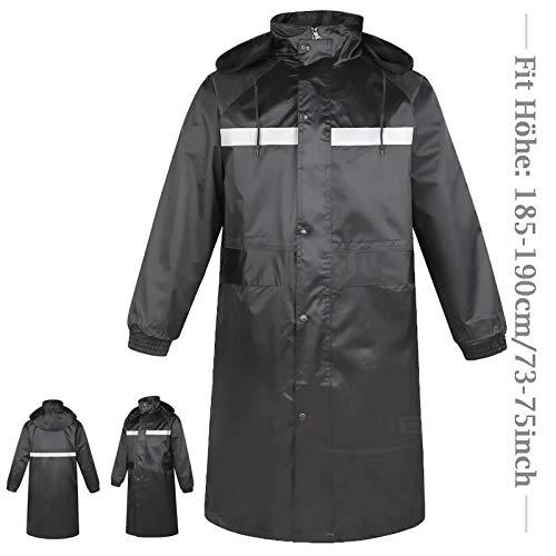 DaoRier Outdoor Sports Regenponcho mit Kapuze - Regenjacke für Damen und Herren, Regenjacken für Damen, Angel-Jacken für Herren, Regenjacken & -mäntel für Damen, Schwarz 5, XXXXL, PVC