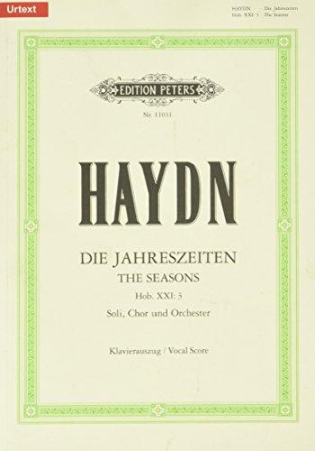Die Jahreszeiten Hob. XXI: 3 / URTEXT: Oratorium für 3 Solostimmen, Chor und Orchester / Klavierauszug