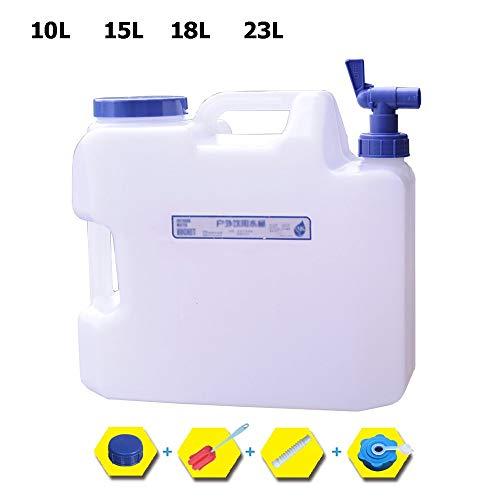 Guoda Wasserkanister  Lebensmittelqualität PC-Material   Mit Wasserhahn   Tragbar   Geeignet Für Zuhause , Schlafsaal , Reisen Im Freien   Weiß (Size : 18L)