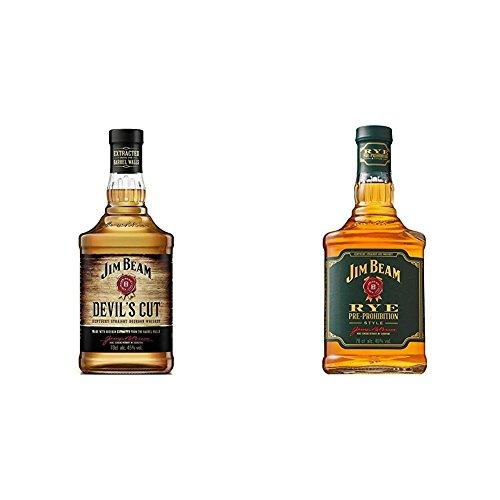 Jim Beam Devil's Cut 90 Proof Kentucky Straight Bourbon + Jim Beam Rye Whisky (2 x 0.7 l)