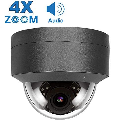 5MP PoE IP Kamera 4X optischer Zoom, Audio IP Überwachungskamera IR Nachtsicht Outdoor Wetterfest, Bewegungserkennung, Onvif kompatibel H.265/H.264 (IPC-D250G-S-4X)