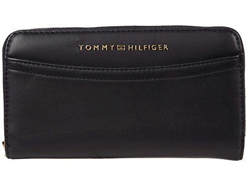 Tommy Hilfiger Hazel Large Smooth Grain PVC Zip Wallet Black One Size