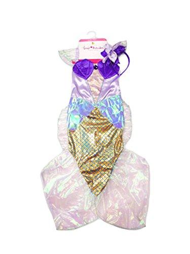 CREATIVE Great Pretenders Meerjungfrauenkleid, blau/lila, Einheitsgröße