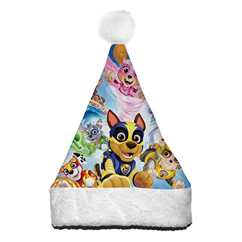 PETWIN Christmas Hat Santa Hat PAW-Patromas 3D Printin Colorful Light Up Xmas Hats for Christmas New Year Festival Party Costume Gifts