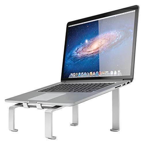 """Supporto PC Portatile, Alluminio Ventilato Porta Notebook, Ergonomico Raffreddamento Laptop Stand, Supporto per PC Compatibile con MacBook Air/Pro, Huawei Matebook D/Altri 10-17"""" Tablet"""