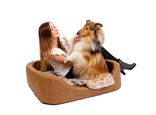CopcoPet - Hundebetten Hundebett Stella Antik Braun 100 x 80 x 10 cm