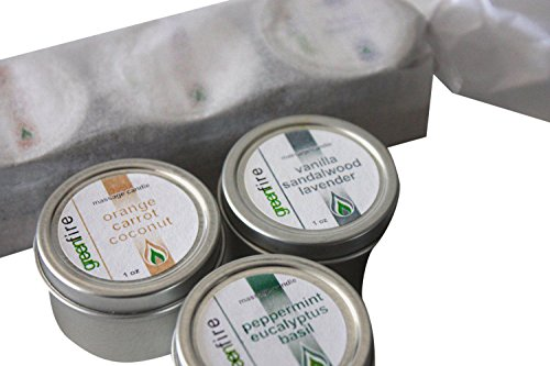 Greenfire 3pk All Natural Massage Oil Candles, Lavender Sandalwood Vanilla, Orange Carrot Coconut, Peppermint Eucalyptus Basil (Size: 1 fl. ounce each) by Greenfire Candles for Massage