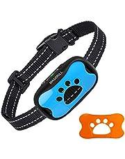 MASBRILL Collar Antiladridos Recargable para Perros Pequeños Medianos y Grandes, Sonido y Vibración Collares Anti ladridos Dispositivo 7 Niveles de Sensibilidad Ajustables - Azul
