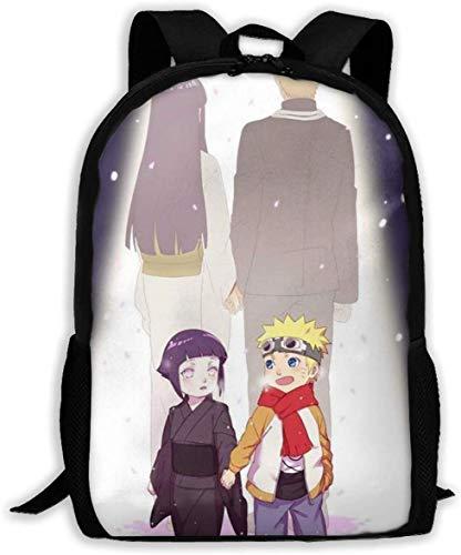 Naruto und Hinata Klassischer Basic Reiserucksack für Schule, wasserabweisend