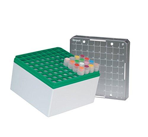 NeoLab 7-8021 Kryo opbergbox PC, 9 x 9 plaatsen, 96 mm hoog, groen (5-pack)
