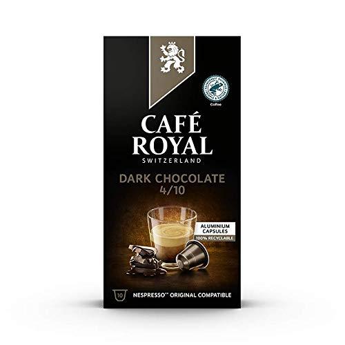 Café Royal Dark Chocolate Nespresso (R) kompatible Kapseln aus Aluminium, Intensität 4/10, 855 g