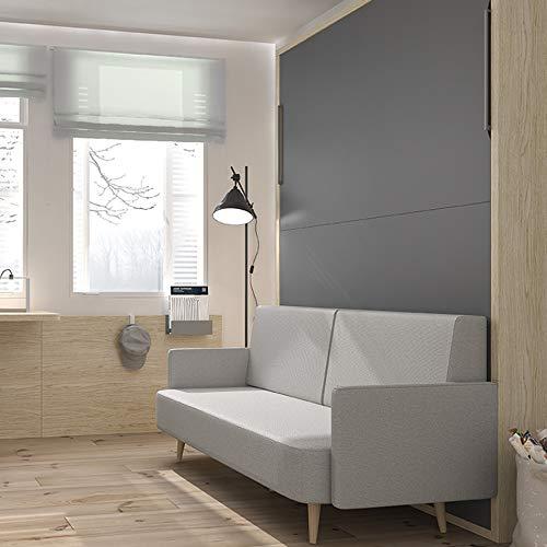 Meubles ROS Möbel, Rosen, Klappbett, vertikal, mit integriertem Sofa, 227,6 x 171,9 x 36 cm, Montana/Kobalt