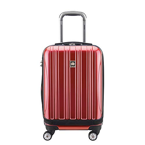 DELSEY Paris Helium Aero Hardside Expandable Luggage with Spinner Wheels, Brick Red, Carry-On 19 Inch