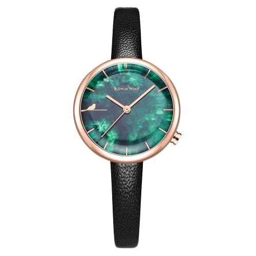 CIVO Reloj de pulsera para mujer, resistente al agua, correa de piel, reloj de pulsera para mujer, reloj de diseño, elegante, informal, analógico, cuarzo, color negro, 1 negro,