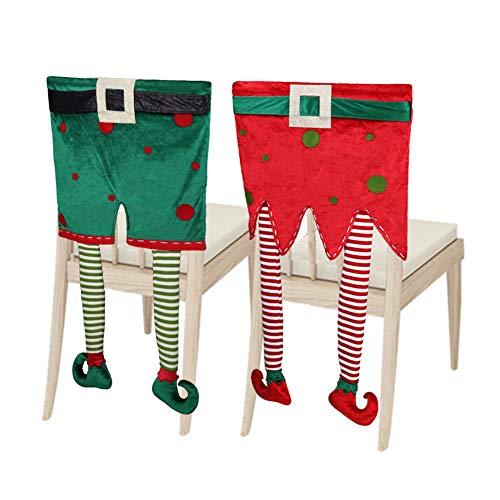 Christmas Elf Chair Back Slipcovers