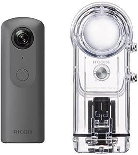 Ricoh Theta V 360 Degree Spherical Panorama Camera, Black TW-1 Underwater Housing