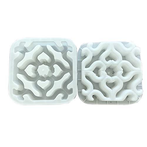 CuteLife Molde para Caminar Cemento Antiguo Molde de ladrillo Plaza Muro de jardín Maquillaje de ladrillo Molde 3D Talla 3D Antideslizante Concreto Pavimento de plástico Moldes para Patio Trasero