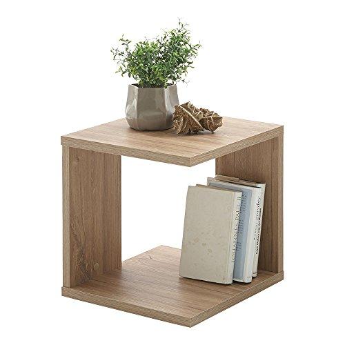 FMD Möbel 649 001-Tavolino in Legno, Sterlingeiche, 38 x 39 x 38,5 cm