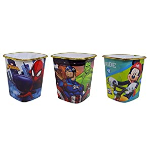 BOXO Cartoon Design Popcorn Bucket for Kids, Popcorn Bowl, Popcorn Cups, Popcorn Tub Plastic, Popcorn Boxes for Party for Home Movie Party, Multicolor, Set of 3