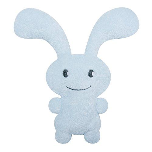 TROUSSELIER - Doudou avec Hochet - Funny Bunny - 24 cm de haut - Moderne Chic - Idéal Cadeau de Naissance - Lavable en Machine - Colori Bleu Ciel