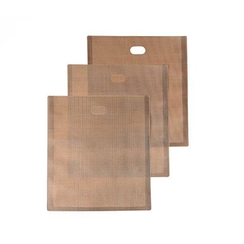 Toasterbeutel   Toaster Bags   Perfekt für gegrillte Käsebrote oder Toast   Glutenfreie Diät   Antihaftbeschichtet, wiederverwendbar, einfach in Mikrowelle und Toaster zu verwenden (Set of 3)