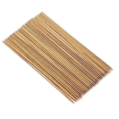 Pinchos de bambú 12 Pulgadas Gruesas Resistentes de bambú Natural para Asar Barbacoa 100pcs BBQ Herramientas de asado para Amigos Familia