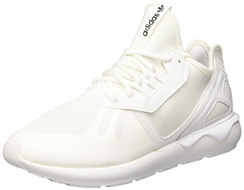 adidas Herren Tubular Runner Low-Top, Weiß (Ftwr White/Ftwr White/Core Black), 42 EU