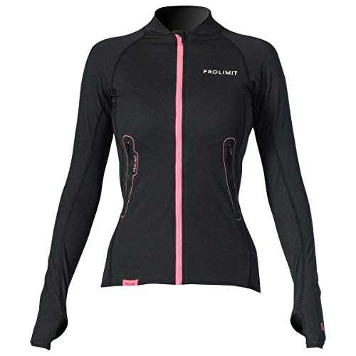 Prolimit Loosefit Quick Dry SUP Damen Stand Up Paddle Boarding Top Schwarz Pink - Atmungsaktiv - Flatlock-Nähte