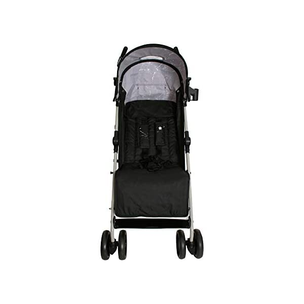 My Babiie MB01 Black Marble Stroller My Babiie Suitable from birth to maximum 15kg, Great for parents on the go being lightweight but strong, Lockable swivel front wheels, Compact fold, ideal for holidays too! Front and rear wheel suspension, Adjustable 2-position leg rest for extra comfort, Super soft handles Extendable 2 position canopy, Hood includes a storage pocket, Large storage basket 4