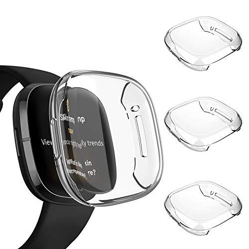 Voakod Screen Protector Case Compatible with Fitbit Sense/Versa 3, TPU...