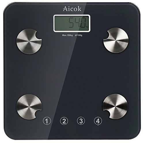 Aicok Digital Body Fat Scale, Bathroom Scale, Weight Scale with...