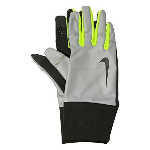 Nike Men's Vapor Flash Run Gloves (M, Black/Volt)