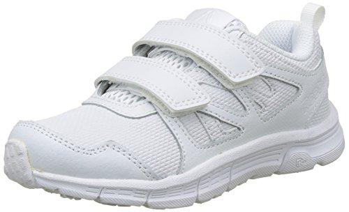 Reebok Run Supreme 2.0 2V, Zapatillas de Running para Niños, Blanco (White/Steel), 34 EU