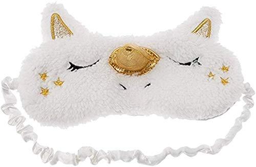 XiZiMi masque pour les yeux de licorne 1 paquet pour femmes filles masque de sommeil mignon couverture pour les yeux ombre à paupières en peluche douce pour les yeux Golden