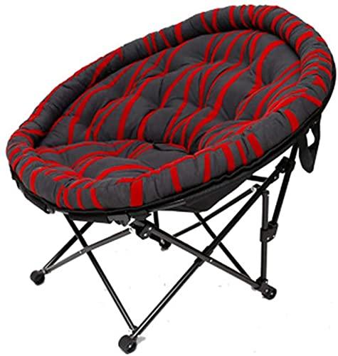 Silla plegable al aire libre reclinada Silla de cubierta de la silla de la silla Portátil plegable Silla de salón Silla de camping Sillas de playa para campamento al aire libre Picnic Senderismo, Red2