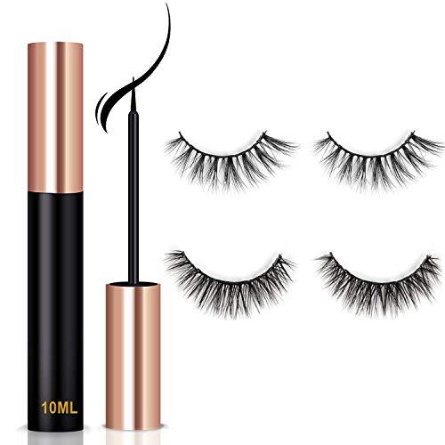 Magnetic Eyeliner, Natural Look Wiederverwendbar Magnetischer Eyeliner (wasserfest & schnell...