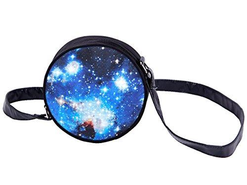 Alsino Rundtasche Umhängetasche Handtasche Schultertasche Abendtasche Outdoor Tasche, Variante wählen:HT-010 Galaxy