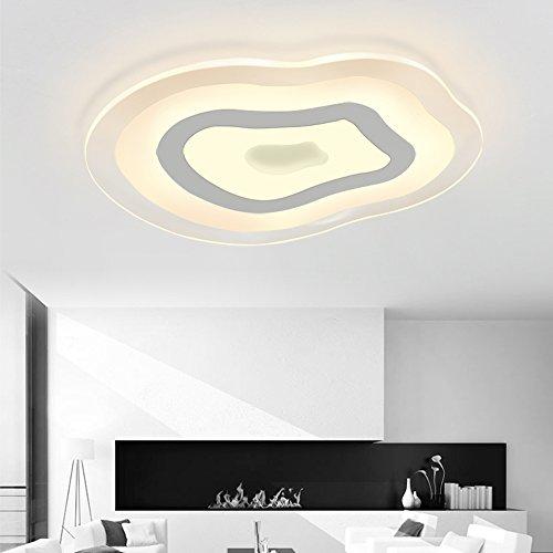 plafonnier LED Natsen 6608 – 35 W, ultra fin à intensité non variable, blanc chaud, rond, ultra plat