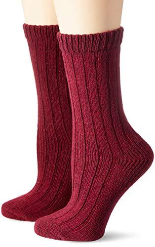 s.Oliver Socks Damen S20484, Rot (Dark Wine Melange 3700), 39/42, 2er Pack