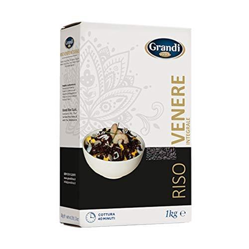 Grandi Riso- Arroz Venere - Arroz Negro Integral - Producto 100 % Italiano - 1 Kilogramo
