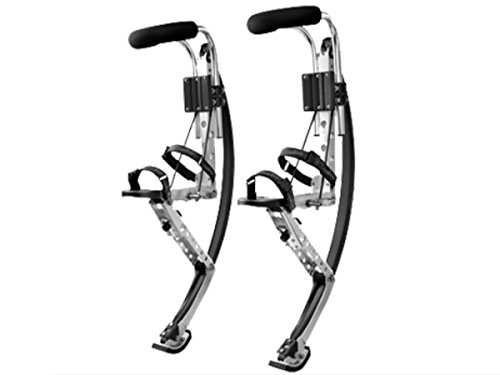 Skyrunner Adult Kangaroo Shoes Jumping Stilts Fitness Exercise (200-242lbs/90~110kg) Bouncing Shoes (Black)