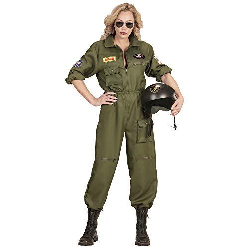 Widmann 11011340 Kostüm Kampfjet Pilotin, Damen, Grün, M