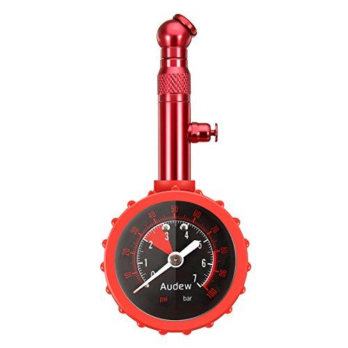 Audew Reifendruckprüfer Reifenfüll-Messgerät Reifendruckmesser Multifunktion Luftdruckprüfer 0~7 bar