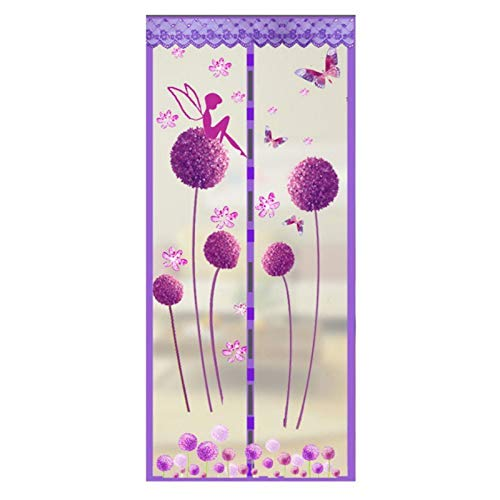 Stilvoller magnetischer Türnetz hält Insekten und Insekten fern, 90 x 210 cm / 100 x 210 cm, 193262203, violett, 90x210CM